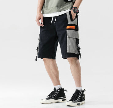 Men Cotton Pockets Bermuda Casual Cargo Shorts