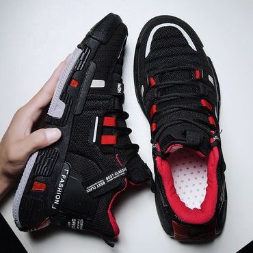 Men Fashion Mesh Air Light Lace Up Sneakers