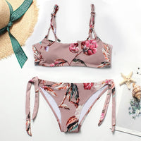 Women Swimsuit Floral Print Push Up Bikini Set
