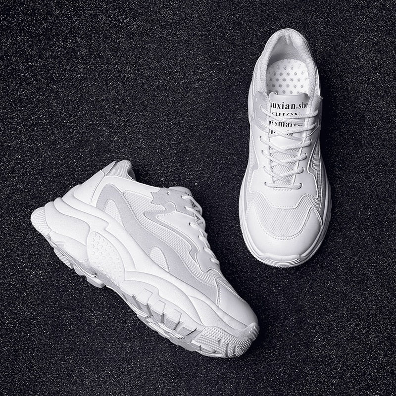 Women Chunky Sneakers Fashion Lace Up Platform Dad Shoes