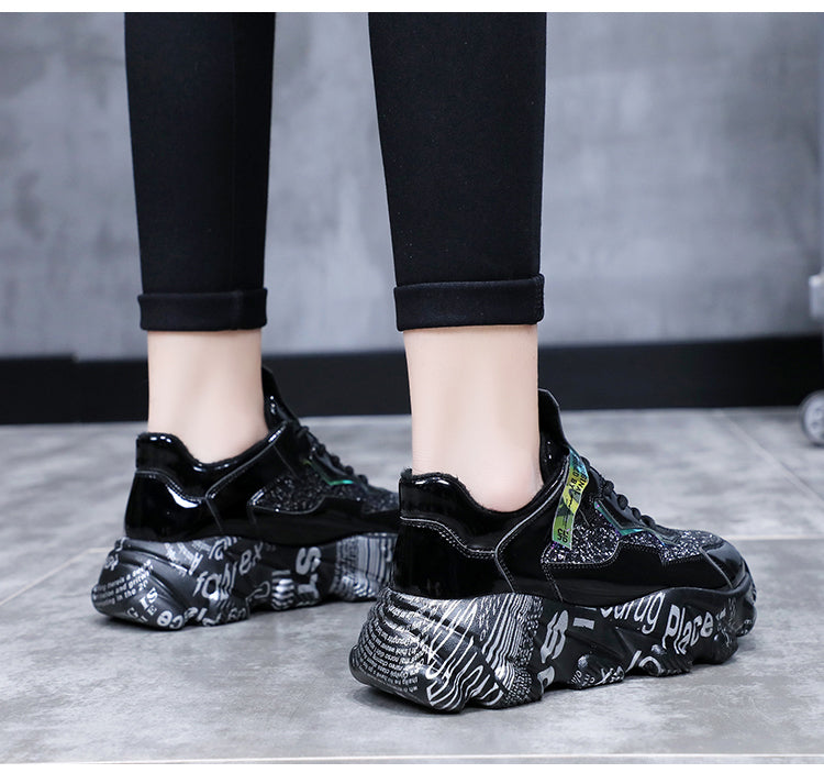 Women Sneakers Fashion Thick Bottom Chunky Shoes