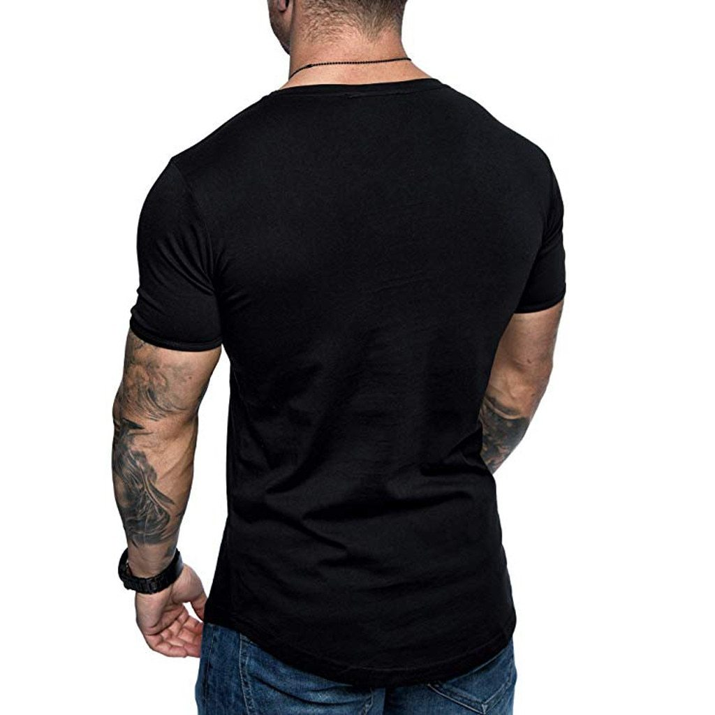 New Fashion Men Streetwear Short Sleeve T-Shirt
