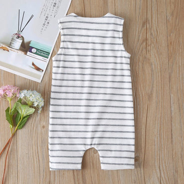 Newborn Baby Boy Onesies Striped Cotton Romper