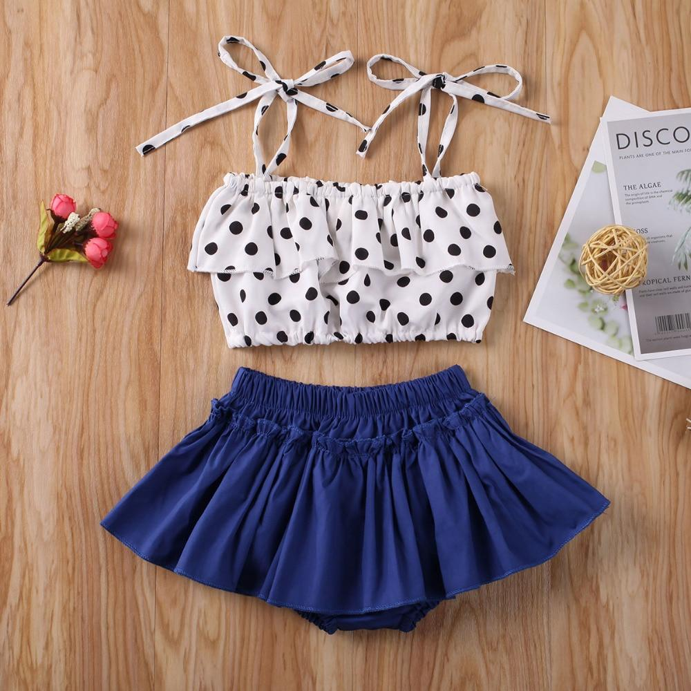 Newborn Baby Girl Clothes Ruffle Crop Tops with Mini Skirt Headband Outfits Set