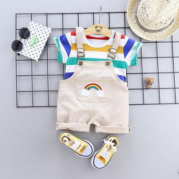 Baby Boys Clothing Set Sport T-Shirt and Bib Shorts Infant Boy Outfits