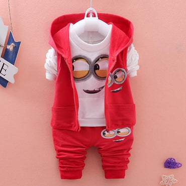 Baby Boys Clothing Set Cute Minion Vest Tops and Pants