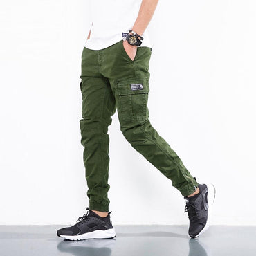 Fashion Men Casual Cargo Pants Cotton Military Tactical Slim Trousers