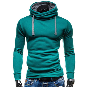 Men Hoodies Sudaderas Hombre Hip Hop Top Brand Solid Color Turtleneck Hoodies