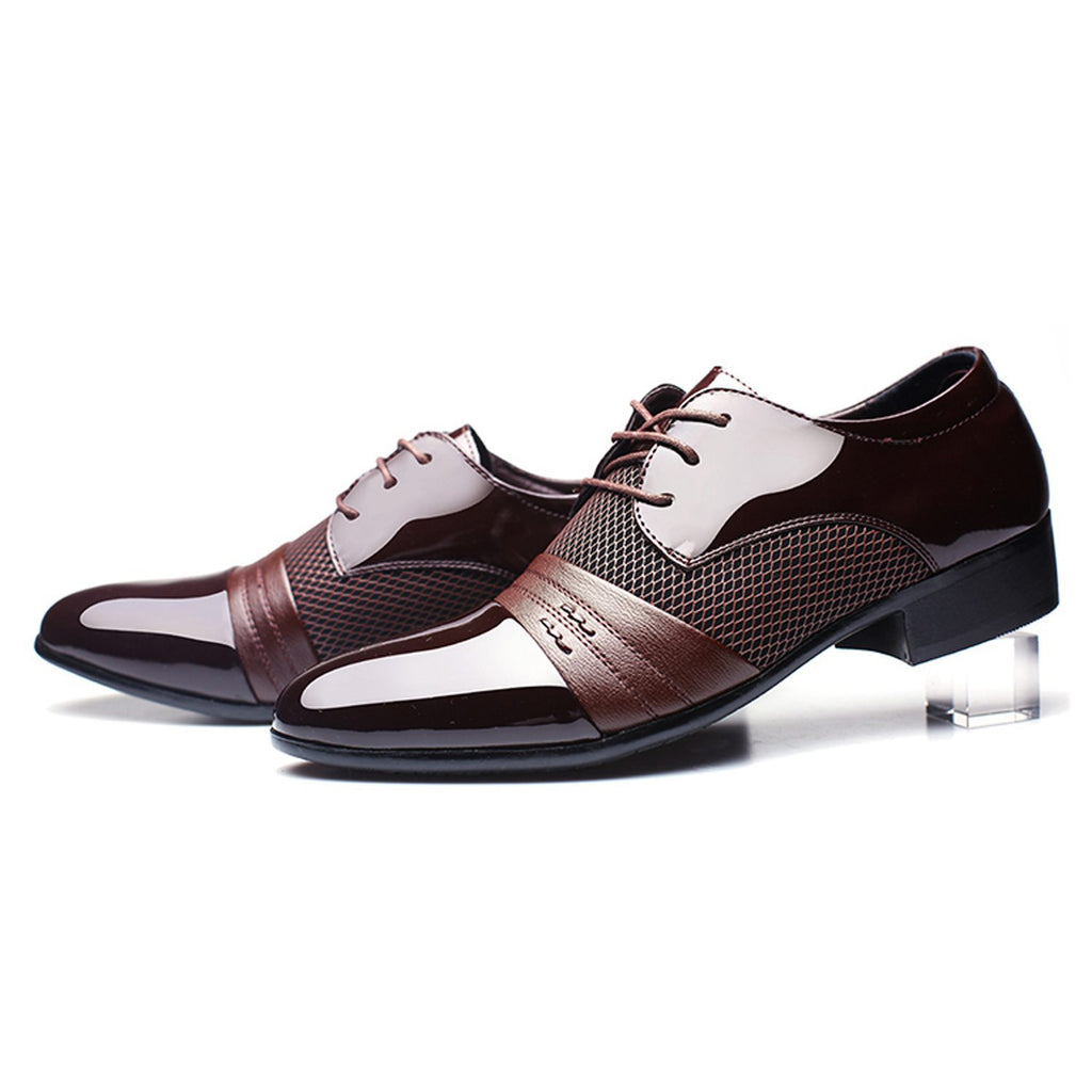 Men Dress Shoes Classical Fashion Luxury Leather Derby Business Oxfords Shoes