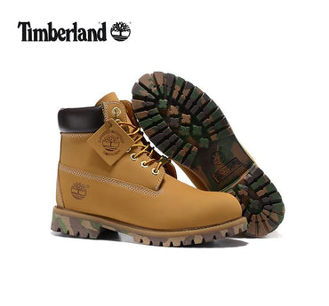 Men Boots Limited Edition Military Camouflage Anti-Slip Bottom Leather Ankle Boots