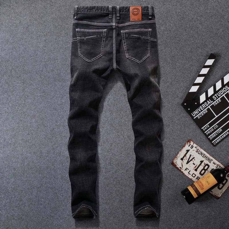 Italy Style Fashion Men's Jeans Elastic Slim Fit Classical Brand Skinny Jeans