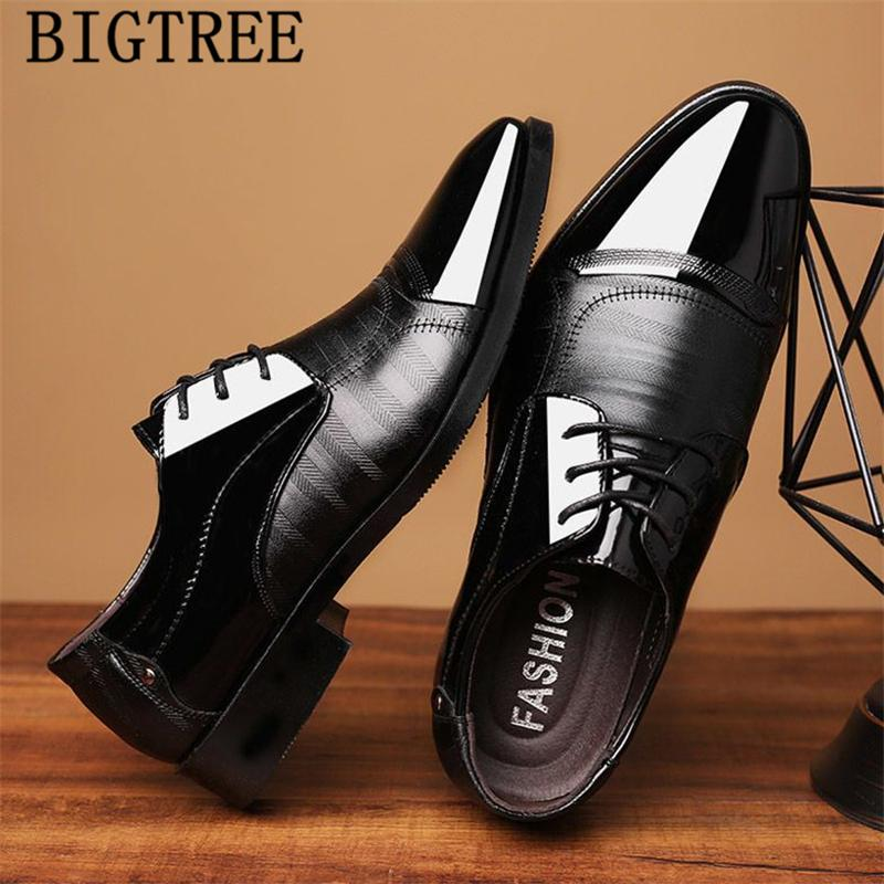 Men dress shoes luxury italian fashion designer leather oxford shoes