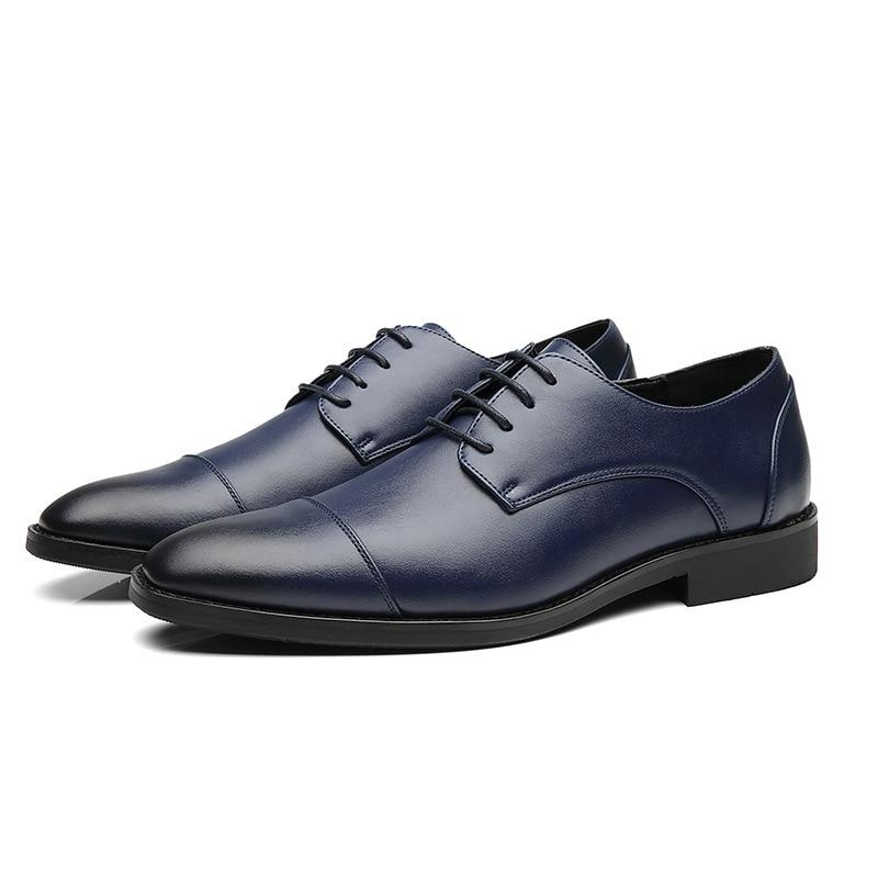 Men Dress Shoes  Genuine Leather Luxury Brand Breathable Oxfords Shoes