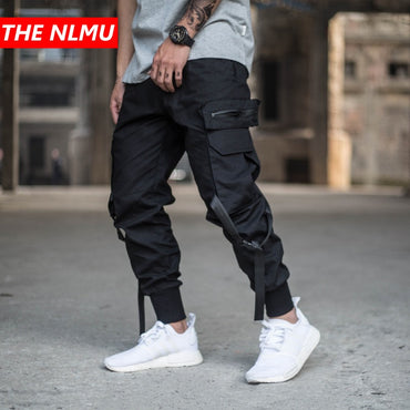 Men Multi Pocket Streetwear Punk Cargo Pants