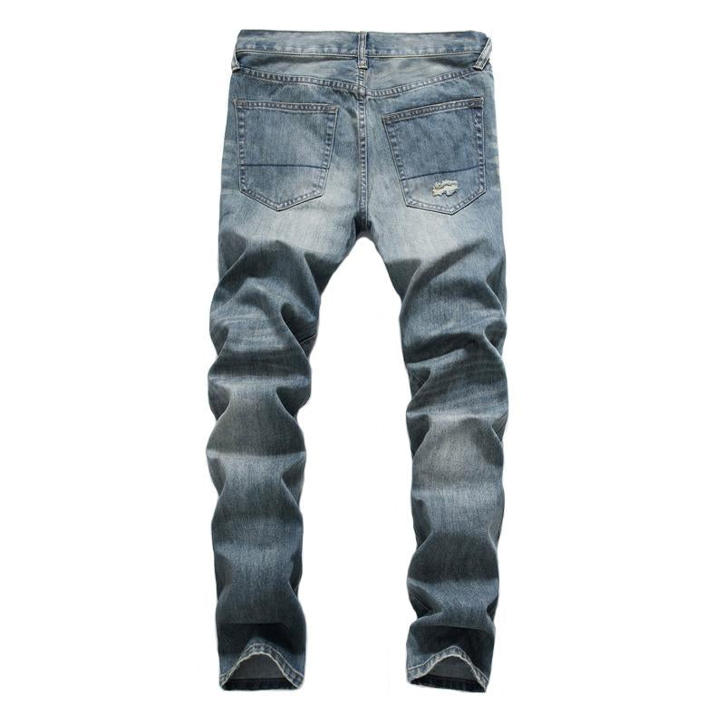 Hot Style Fashion Men Jeans Retro Destroyed Ripped Hip Hop Jeans