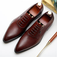Fashion Design Men Genuine Cow Leather Brogue Oxford Shoes