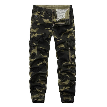 Fashion Men Tactical Cargo Joggers Military Style Casual Cotton Pants