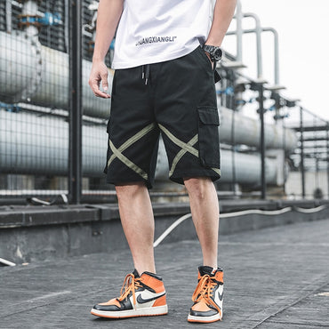Men Fashion Cotton Pockets Cargo Shorts