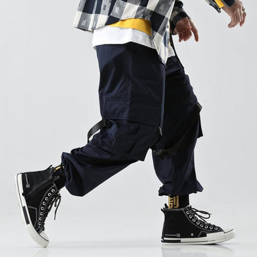 Men Cool Style Loose Punk Hip Hop Cargo Pants