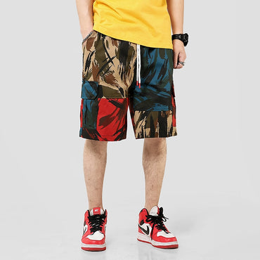 Men Streetwear Camouflage Casual Shorts