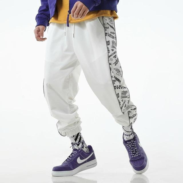 Hot selling men fashion creative print harajuku streetwear sweatpants
