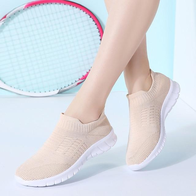 Women Hot Fashion Breathable Casual Flats Shoes
