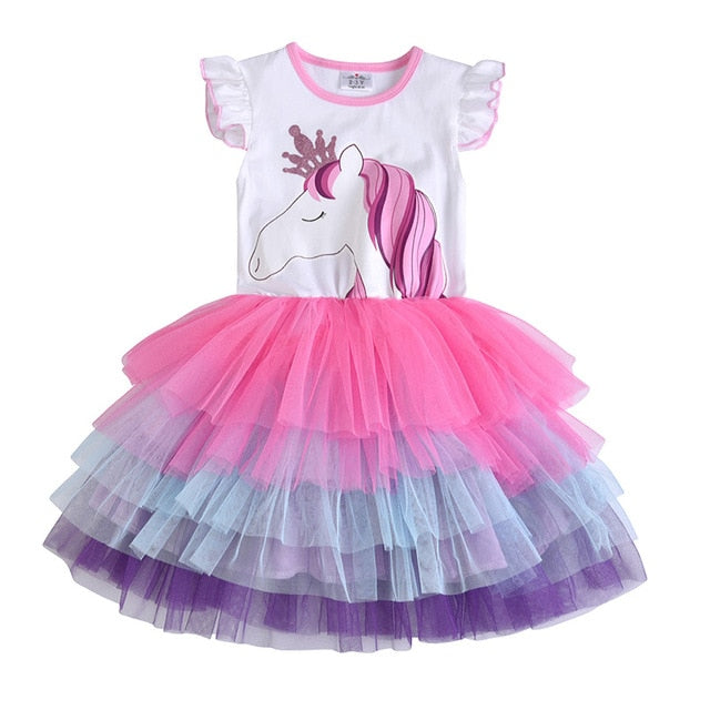 Girls Tutu Dress Cute Animals Unicorn Butterfly Party Dress