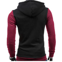 Men Hoodies Top Brand Fashion Patchwork Slim Fit Hoodies