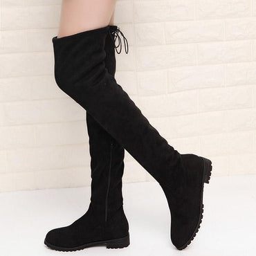 Sexy Women Over The Knee Boots Slim Suede Fashion Thigh High Boots