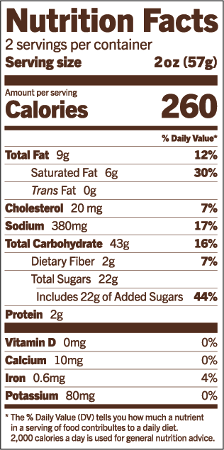 Prohibition Popcorn Nutrition Facts