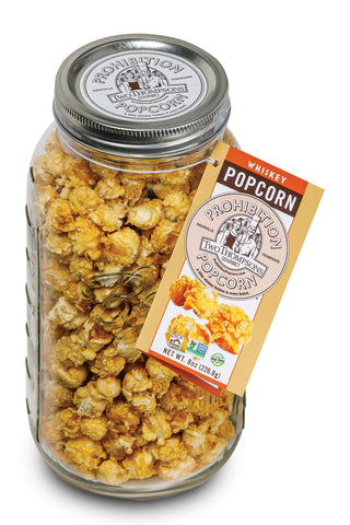 LARGE Jar of Gourmet Popcorn - (1/2 gallon size Mason jar)