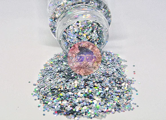 Chunky Holographic  Disco Ball 2 oz Bottle