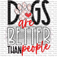 ANM 49 Dogs are better than people pink dot paw