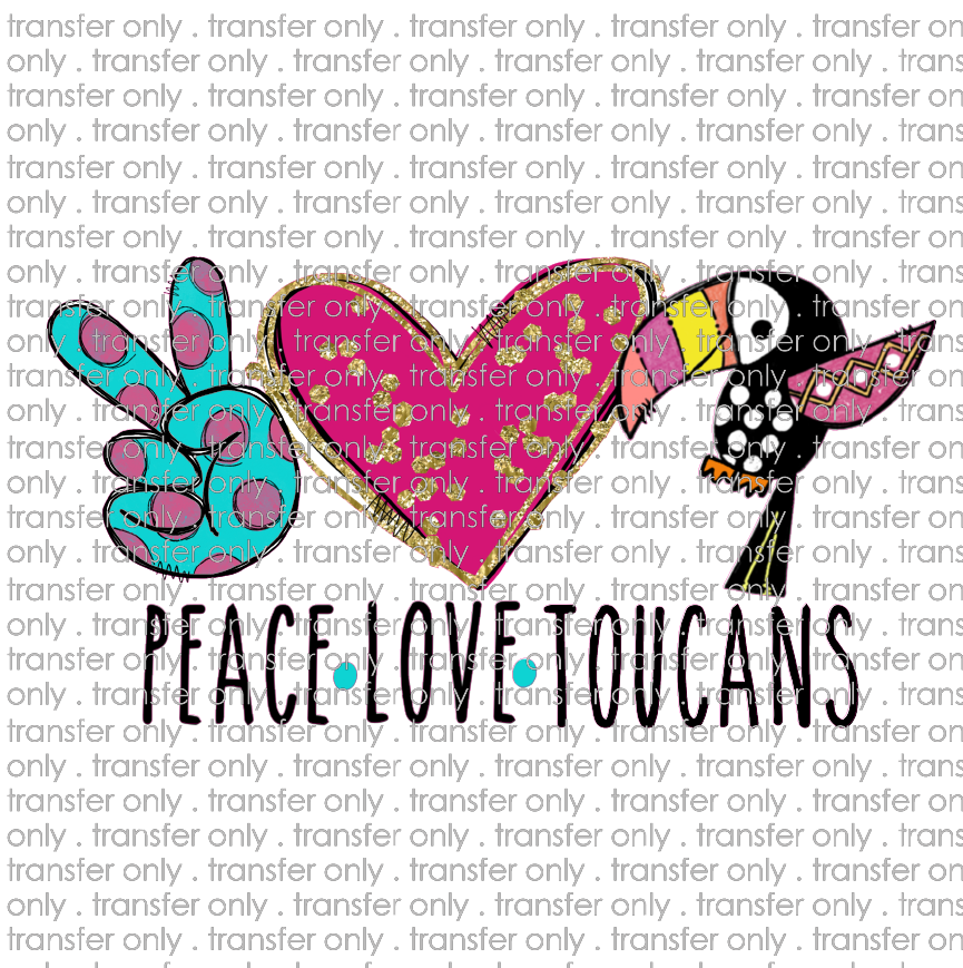 ANM 62 peace love toucans