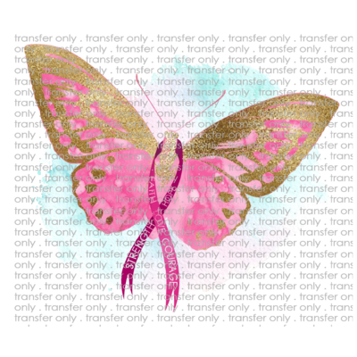 AWR 14 Breast Cancer Awareness Butterfly