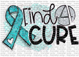 AWR 36 Teal Ribbon Find a Cure
