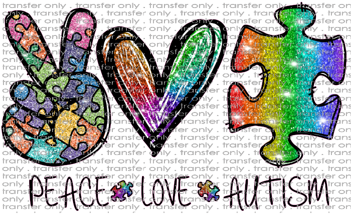 AWR 73 Piece Love Autism Rainbow