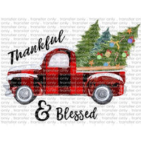 CHR 11 Thankful and Blessed Plaid Truck