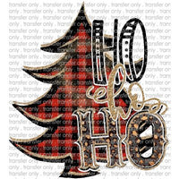 CHR 114 Ho Ho Ho Buffalo Plaid Tree