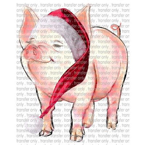 CHR 127 Watercolor Santa Pig