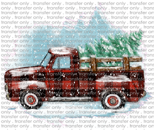 CHR 177 Handdrawn Truck Buffalo Plaid