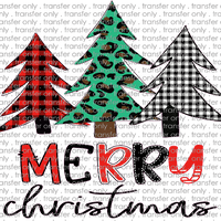 CHR 193 Merry Christmas Buffalo Red Green and Green Leopard