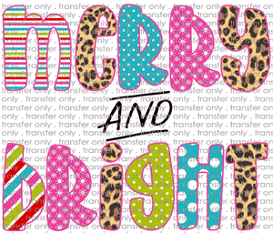 CHR 197 Merry and Bright Pink Cheetah Teal