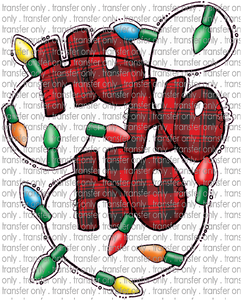 CHR 204 Ho Ho Ho Buffalo Plaid with Lights