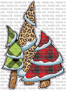 CHR 211 Green and Red Buffalo Plaid Leopard Christmas Tree