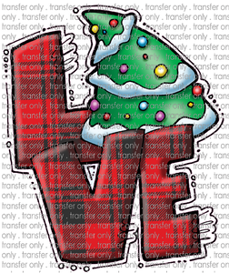 CHR 212 Love Red Buffalo Plaid Christmas Tree