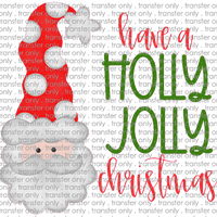 CHR 227 Holly Jolly Christmas Santa