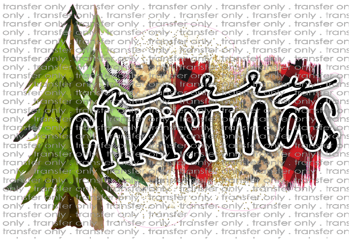 CHR 246 Merry Christmas Tree Swatch Buffalo Plaid Glitter Gingham