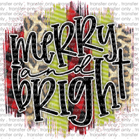 CHR 253 Merry and Bright Swatch Plaid Green Leopard