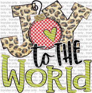 CHR 257 Joy to the World Leopard Red Green